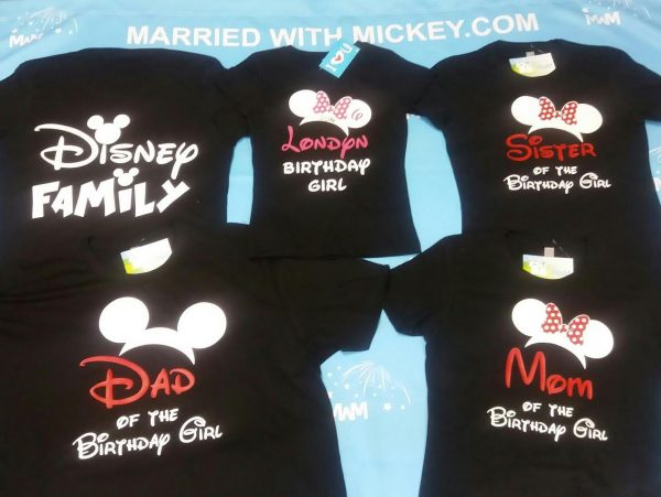 Disney Family Shirts Birthday Girl (Boy) Shirt With Name And Age, Mom Dad Sister Of Birthday Girl (Boy) mwm married with mickey