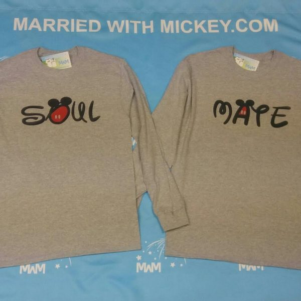 LGBT Gay Cute Shirts Soul Mate With Custom Date Kissing Mickeys MWM MArried With Mickey