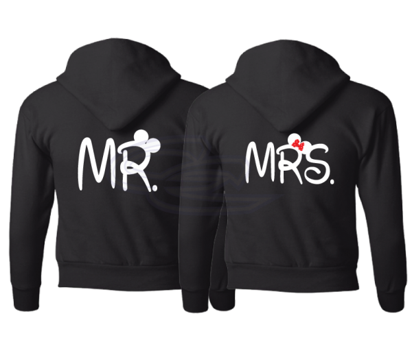 Mr and Mrs Mickey Minnie Mouse Heads With Wedding Date Married With Mickey