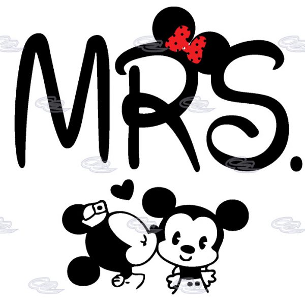 Disney Mickey Minnie Mouse Very Cute Kiss Shirt For Mrs