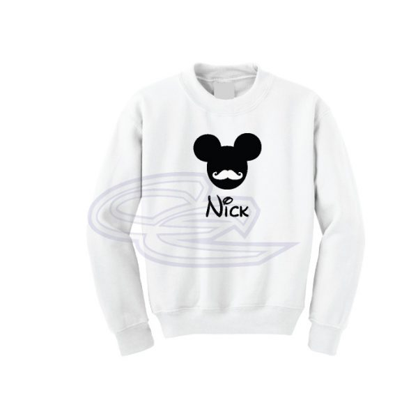 Disney Mickey Mouse Mustaches With Custom Name