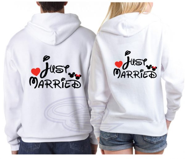 Just Married Mickey Minnie Mouse Disney Couple Matching Shirts