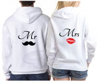 Mr Mustaches Mrs Lips Cute Couple Apparel