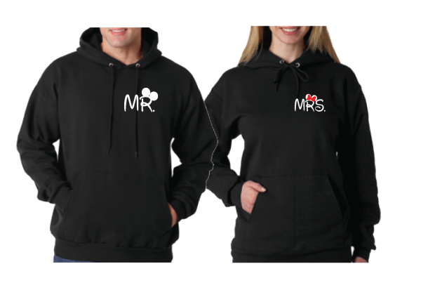 Just Married Disney Couple Matching Shirts For Mr Mrs With Special Wedding Date