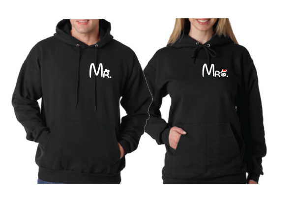 Just Married Matching Couple Apparel For Mr Mrs