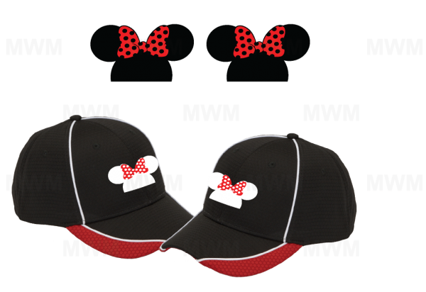 LGBT Lesbian Matching Couples Hats for Mrs, Soul Mate, Princess, Minnie, Head Ears Bow, self-adhesive closure back
