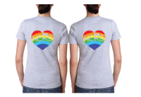 LGBT Lesbian Cute Couple Shirts Hers Rainbow She Proposed Today She Said Yes