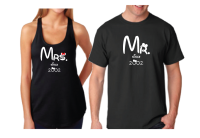 Mr Mrs Since Wedding Date Matching Cute Couple Hoodies, Zip Up Hoodies, Baseball Tees, T-Shirts and more