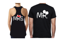 Disney Font Mr Mrs With Big Ears Minnie Cute Red Bow