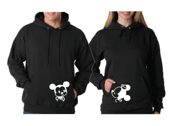 Little Mickey Minnie Mouse Kiss His And Hers T-Shirts, V Neck Tshirts, Tank Tops, Baseball Tees, Sweatshirts, Zip Up Hoodies and more