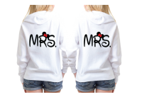 LGBT Lesbian Mrs With Little Minnie Mouse Cute Kiss Couple Shirts