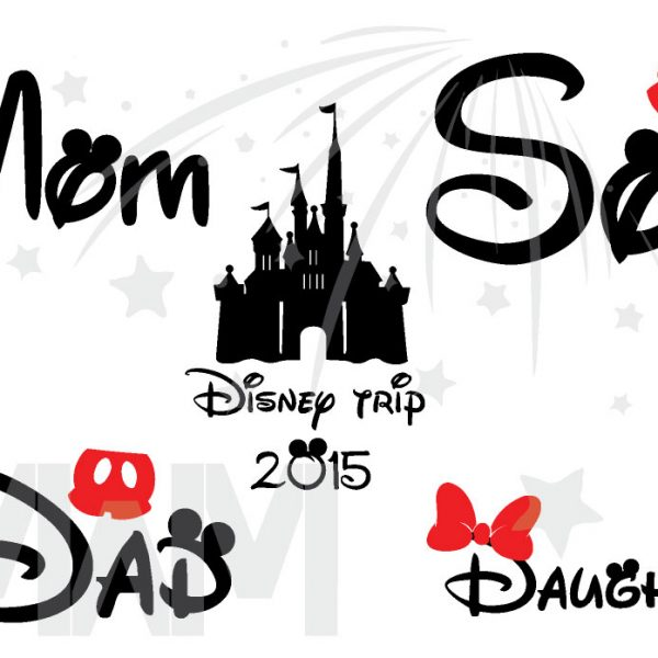 Disney Trip Family Matching Disney Shirts, Mom/Dad, Son/Daughter (get as many shirts as you need) Disney Cinderella Castle, Family Trip, Vacation, Weekend Custom Date married with mickey mwm
