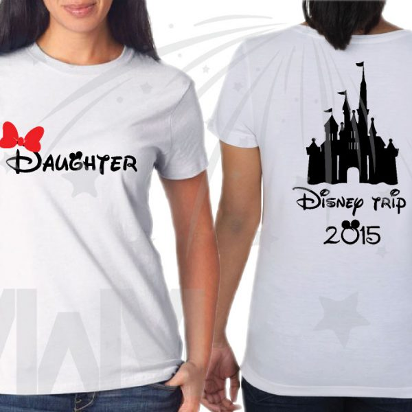 Family Disney Matching Disney Shirts, Mom/Dad, Son/Daughter (get as many shirts as you need) Disney Cinderella Castle, Family Trip, Vacation, Weekend Custom Date married with mickey mwm