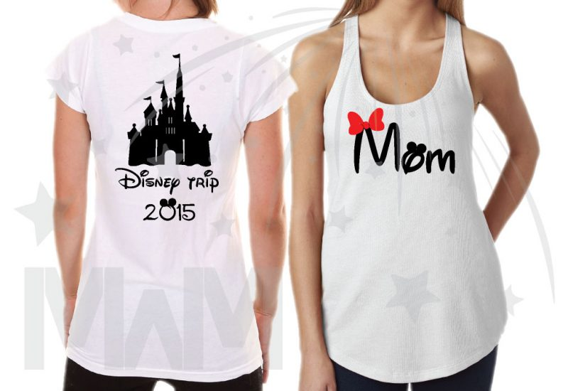 Family Matching Disney Shirts, Mom/Dad, Son/Daughter (get as many shirts as you need) Disney Cinderella Castle, Family Trip, Vacation, Weekend Custom Date married with mickey mwm