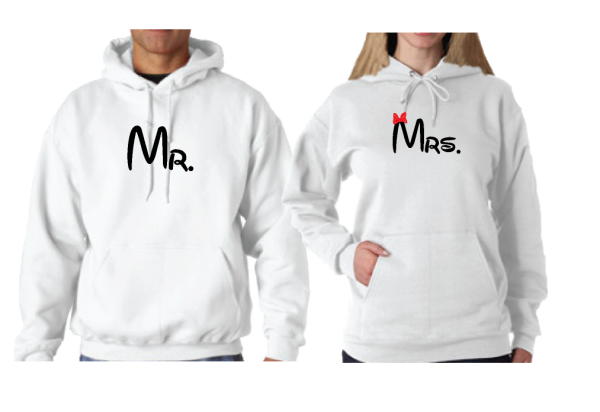 Disney LoVe SoulMate Matching Couple Shirts With Mickey Minnie Kissing For Mr and Mrs