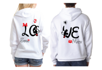 Disney LoVe SoulMate Matching Couple Shirts With Mickey Minnie Kissing