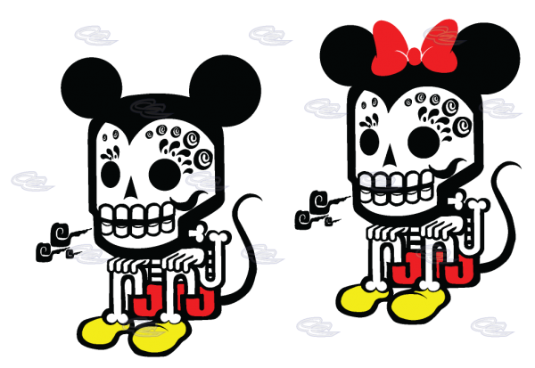 Mickey Minnie Mouse Robot Style Cool Shirts For Awesome Couple