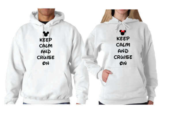 Keep Calm and Cruise On Disney Couple Matching Shirts