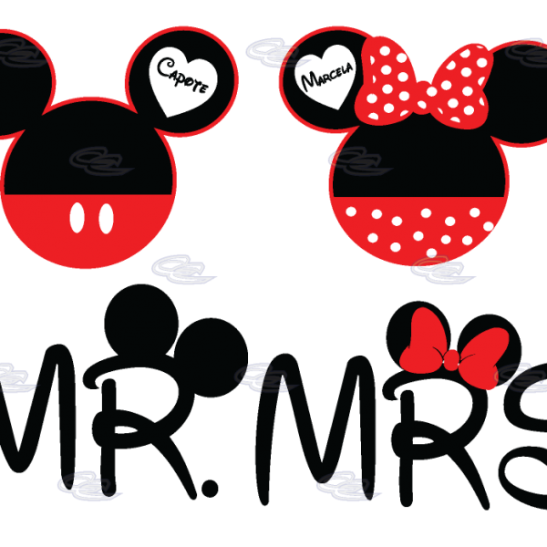 Mr Mrs Mickey Minnie Mouse Heads | Married with Mickey