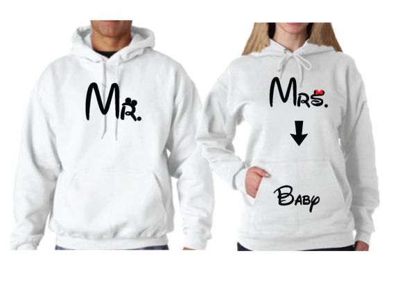 Mr Mrs Shirts with Baby Since Together Forever
