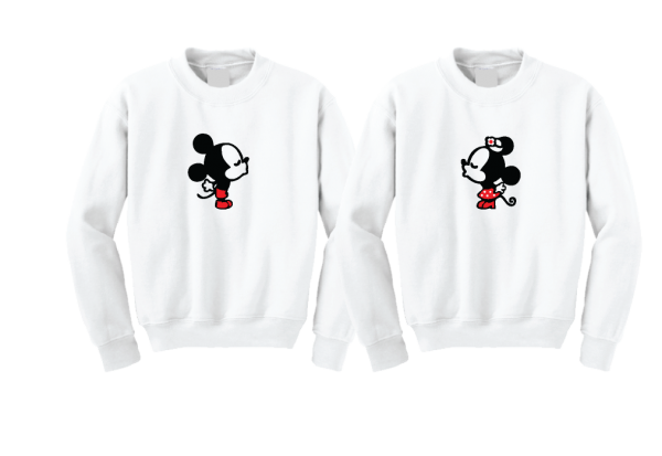 Her Prince His Princess Little Mickey Minnie Mouse Kiss Mickey's Hands In Heart Shape Wedding Date
