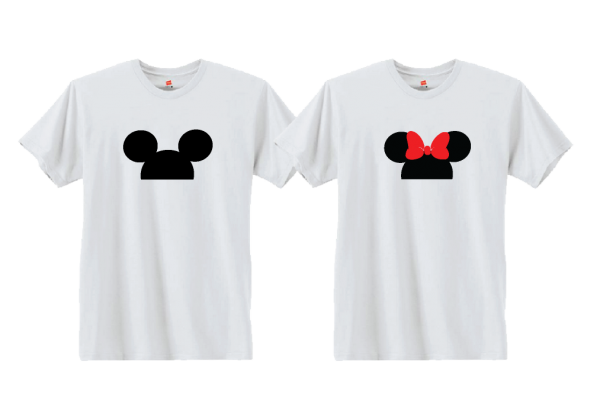Cute Matching Married Couple Shirts For Mr Mrs Mickey Mouse Head Minnie Mouse Head