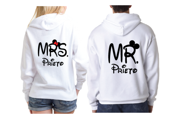 Just Married Mr Mrs With Custom Last Name