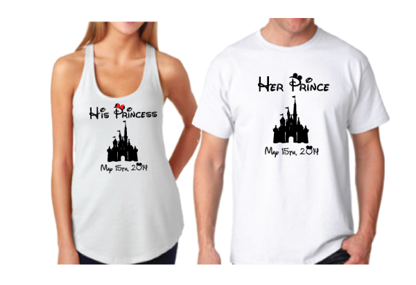 Her Prince His Princess With Disney Cinderella Castle Wedding Date