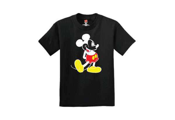disney black tee Mickey Mouse Old Style Design Married With Mickey
