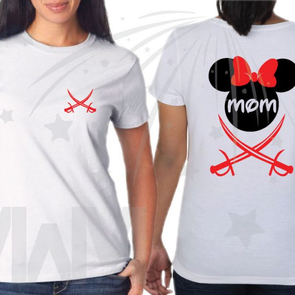disneyland family Pirate Matching Shirts With Swords and Names married with mickey mwm