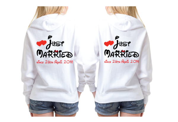 LGBT Lesbians Couple Very Cute Shirts For Mrs Just Married With Mickey Wedding Date