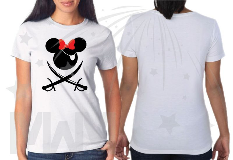 Disney World Family Pirate Matching Shirts With Swords and Names married with mickey mwm