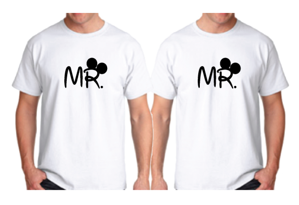 LGBT Gay Matching Shirts For Mr Mickey Mouse Hands In Heart Shape Wedding Date