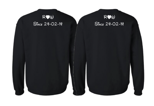 LGBT Gay Matching Shirts I'm His He's Mine With Initials Custom Wedding Date