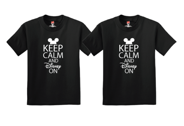 Keep Calm and Disney On Cute Couple Shirts Any Style and Sizes