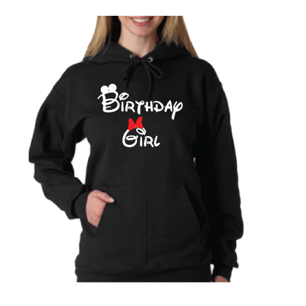 Birthday Girl Minnie Mouse Cute Red Bow On Shirt
