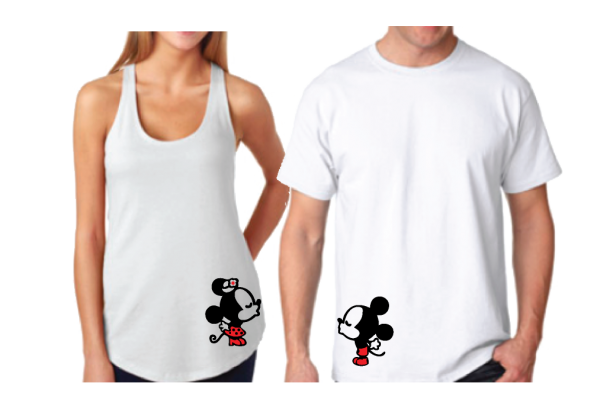 Disney Kissing Mickey Minnie Mouse Just Engaged.. 10 years later