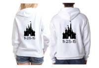 Cute Disney Couple Mr Mrs Matching Shirts With Cinderella Castle and Custom Wedding Date