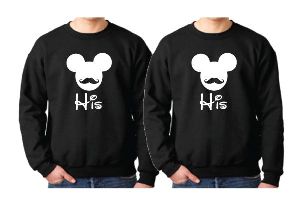LGBT Gay Matching Shirts His Mickey Mouse Mustaches
