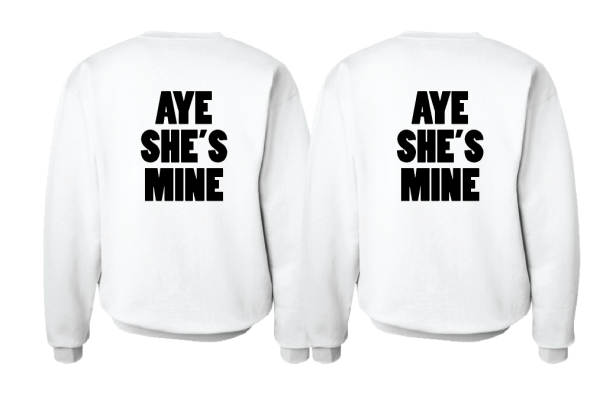 LGBT Lesbian Aye She's Mine Couple Shirts Minnie Mouse Pointing Hand