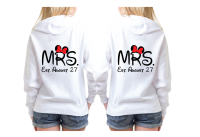LGBT Lesbian Couple Shirts For Mrs Wedding Date Mickey Heart Hands
