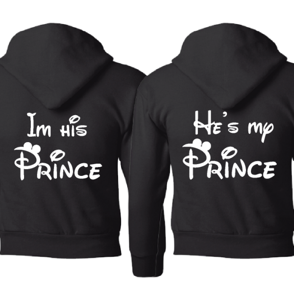 LGBT Gay I'm His Prince He's My Prince Matching Shirts