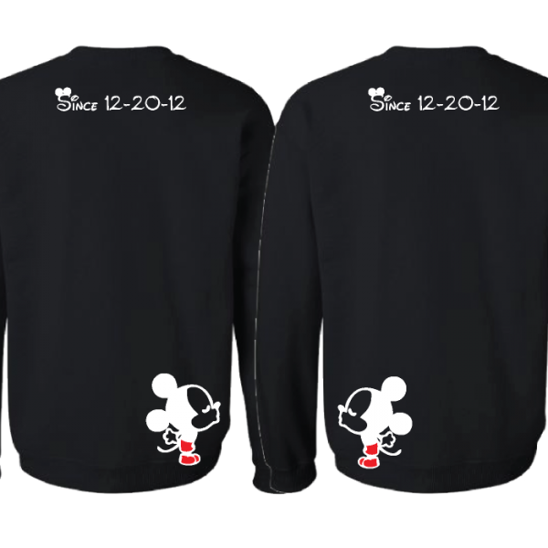LGBT Gay Cute Shirts Soul Mate With Custom Date Kissing Mickeys