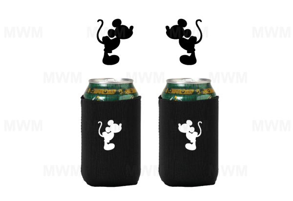 LGBT Gay Matching Couples Neoprene Can Holder for Mr, Soul Mate, Prince, Mickey, Ears, Keep your beverage of choice nice and cold with this handle neoprene can holder