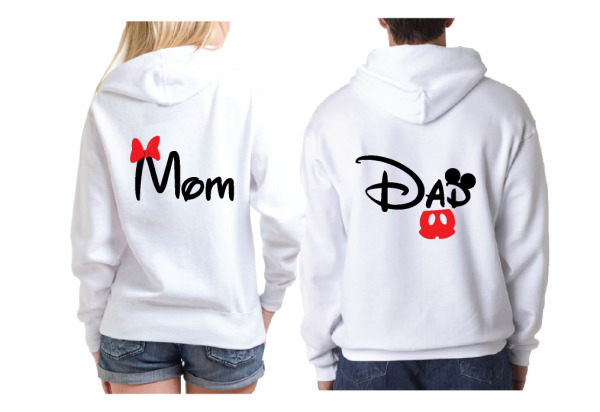 Dad and Mom Disney Family Matching Shirts