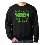 Hand Over the Candy And No One Gets Hurt Halloween Shirt Married With Mickey