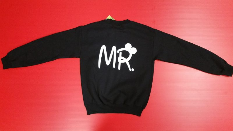 Black Sweater Mickey Mouse Kissing Mr Ears Married With Mickey