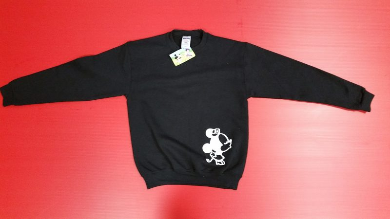 Black Sweater Minnie Mouse Kissing Mrs Ears Married With Mickey
