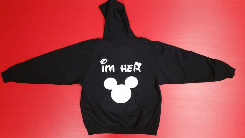 Black Hoody True Im Her Mickey Mouse Head Married With Mickey