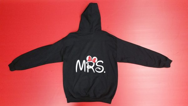 Black Pullover Shirt Mrs Red Bow Big Ears Married WIth Mickey